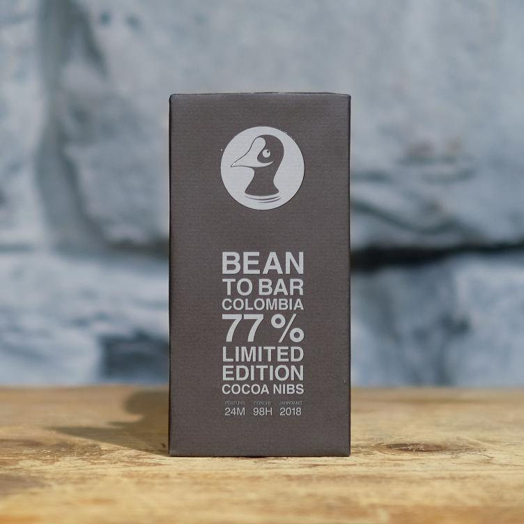 Bean to Bar Cocoa Nibs Limited 77% Colombia 80g